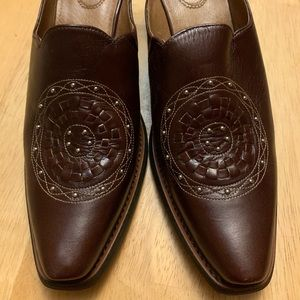 Ariat Mules New Brown Size 9 Silver Medallion Shoe